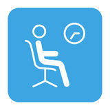 Waiting room icon Royalty Free Stock Images