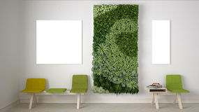 Waiting room, interior design. 3D illustration Stock Images