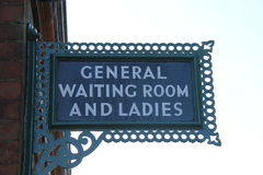 Waiting Room and Ladies Sign. Royalty Free Stock Image