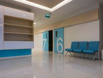 Waiting room in a modern clinic.  royalty free stock photography