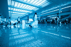 Waiting room and passengers motion blur Royalty Free Stock Image