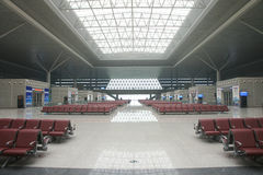 Waiting room of Zhengzhou Railway station Stock Photo