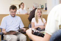 Waiting room and reception desk Stock Photo