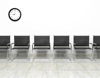 Waiting room. Row of chairs in waiting room Stock Photos