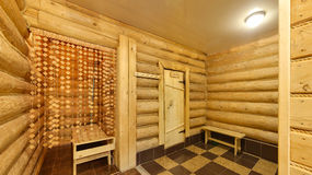 Waiting room before a sauna Stock Image
