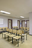 Waiting room with seats. Nobody. Vertical format Royalty Free Stock Images