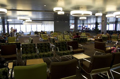 Waiting room in Seattle airport Royalty Free Stock Photo