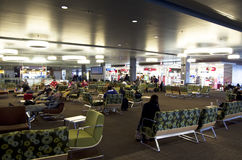 Waiting room in Seattle airport Royalty Free Stock Photography