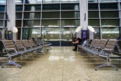 Waiting room of Sheremetyevo stock images
