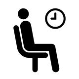 Waiting room symbol Royalty Free Stock Images