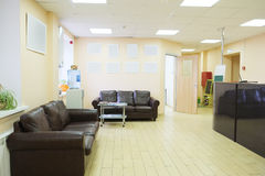 Waiting room with a table of reception Royalty Free Stock Photos
