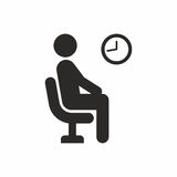 Waiting room. Vector icon isolated on white background vector illustration