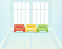 Waiting room with window Royalty Free Stock Image