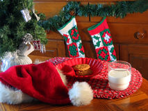Waiting for Santa. A treat for Santa on Christmas Eve Royalty Free Stock Images