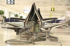Waiting seats in the airport Royalty Free Stock Images