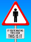 Waiting. For a sign for action, happiness or bright future Royalty Free Stock Photos