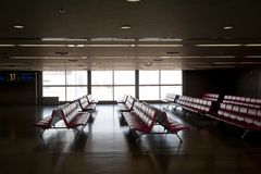 Waiting site in airport Royalty Free Stock Photos
