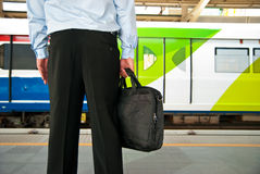 Waiting for the sky train Royalty Free Stock Photo