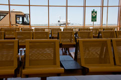 Waiting space in airport Stock Photography