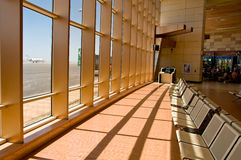 Waiting space in airport Stock Image