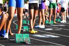 Waiting at the starting line Royalty Free Stock Photos