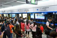 Waiting subway Stock Images