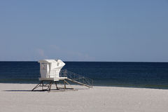 Waiting for summer - lifeguard station Stock Photos
