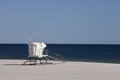 Waiting for summer - lifeguard station. Modern lifeguard station closed on an empty beach. Waiting for summer stock photos