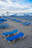 Waiting for sunbathers on the beach Royalty Free Stock Photography