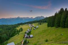 Waiting for sunrise at plateau Zajamniki Royalty Free Stock Image
