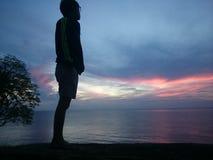 Waiting sunrise Stock Photography