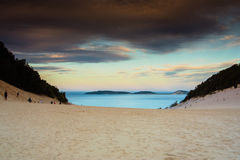 Waiting For The Sunset. The sunset at the Carlo Sandblow in Australia stock photography