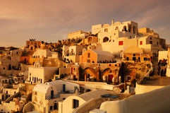 Waiting for the sunset in Oia Stock Photos