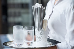 Waiting on tables Royalty Free Stock Photo