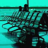Waiting time at airport Royalty Free Stock Image