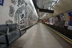 Waiting Time on the London Underground tube station. royalty free stock photo