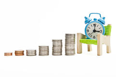 Waiting time for making more money in business Royalty Free Stock Images