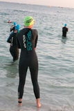 Waiting to start the Busselton half Ironman,70.3 Royalty Free Stock Photography
