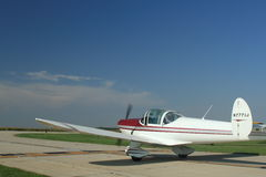 Waiting to taxi. Small plane waiting for OK to enter runway and taxi for take off royalty free stock photo
