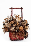 Waiting too Long. A dried bouquet shot on white background Royalty Free Stock Photography