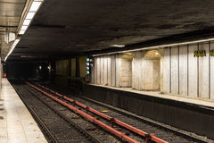 Waiting For Train In Central Subway Station Royalty Free Stock Images