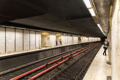 Waiting For Train In Central Subway Station Royalty Free Stock Image