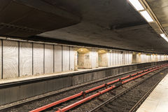 Waiting For Train In Central Subway Station Stock Image
