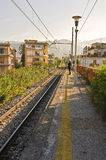 Waiting for the Train, Italy Royalty Free Stock Images