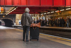 Waiting for the train Royalty Free Stock Images