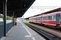 Waiting train Stock Photos