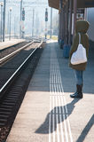 Waiting the train Royalty Free Stock Photography