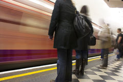Waiting for the tube Royalty Free Stock Photos