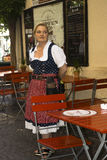Waiting waitress, Bolzano Italy Royalty Free Stock Photography