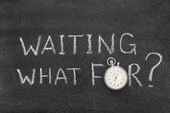 Waiting what for royalty free stock photography